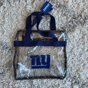 Handbags - Clear NY Giants bag